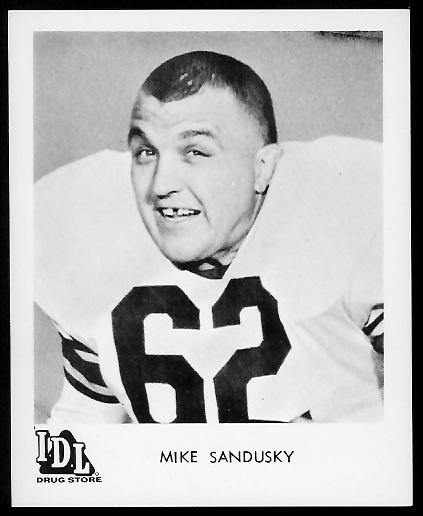 Mike Sandusky 1963 IDL Steelers football card