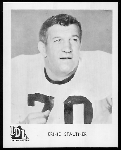 Ernie Stautner 1963 IDL Steelers football card