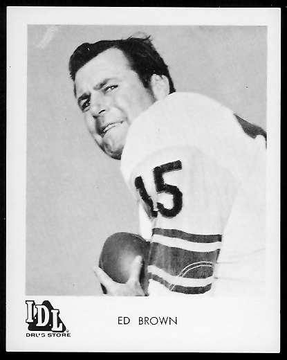 Ed Brown 1963 IDL Steelers football card