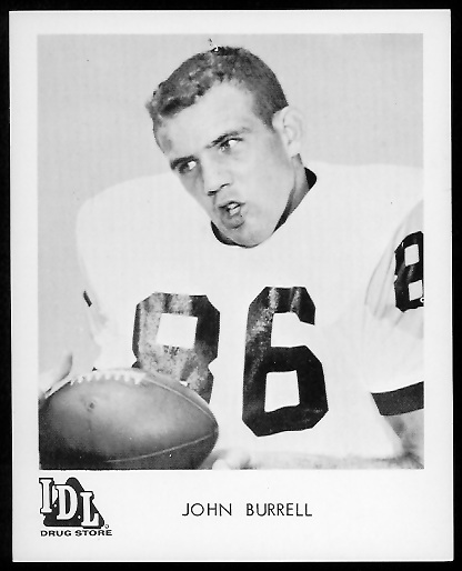 John Burrell 1963 IDL Steelers football card