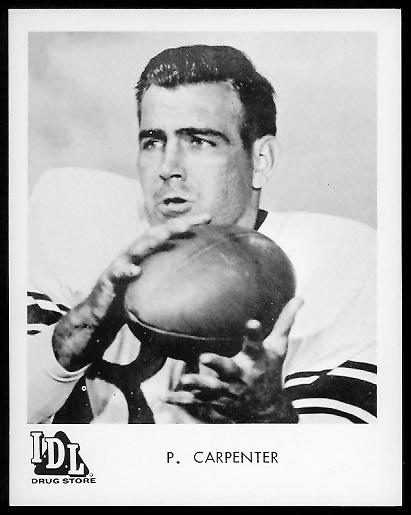 Preston Carpenter 1963 IDL Steelers football card