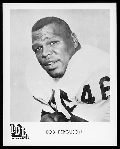 Bob Ferguson 1963 IDL Steelers football card