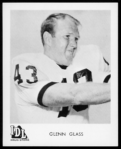 Glenn Glass 1963 IDL Steelers football card