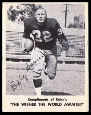 Bill Barnes 1963 Kahns football card