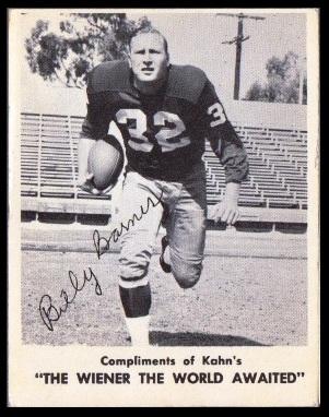 Bill Barnes 1963 Kahns football card