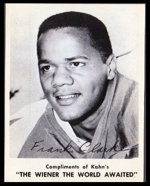 Frank Clarke 1963 Kahns football card