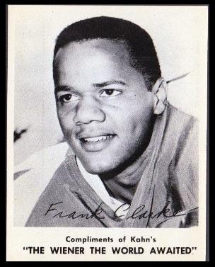 Frank Clarke 1963 Kahns football card