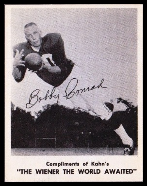 Bobby Joe Conrad 1963 Kahns football card