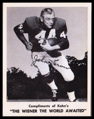 John David Crow 1963 Kahns football card