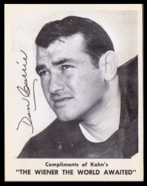 Dan Currie 1963 Kahns football card