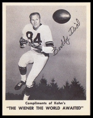 Buddy Dial 1963 Kahns football card