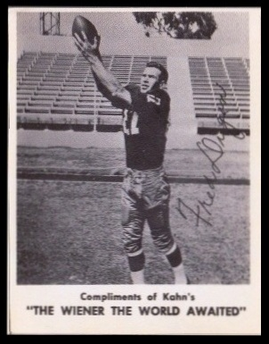 Fred Dugan 1963 Kahns football card