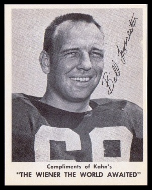 Bill Forester 1963 Kahns football card