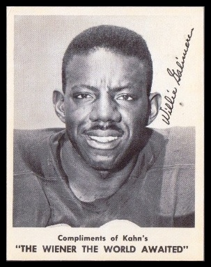 Willie Galimore 1963 Kahns football card