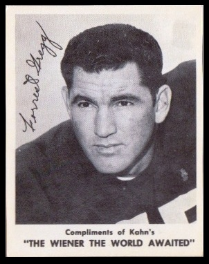 Forrest Gregg 1963 Kahns football card