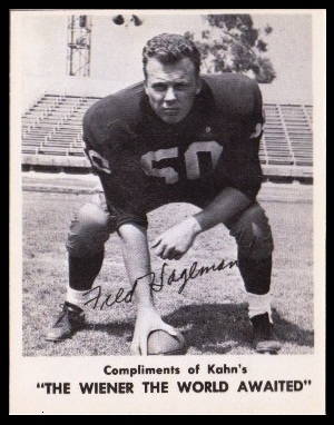 Fred Hageman 1963 Kahns football card