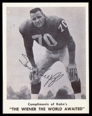 Sam Huff 1963 Kahns football card