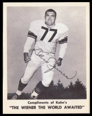 Dan James 1963 Kahns football card