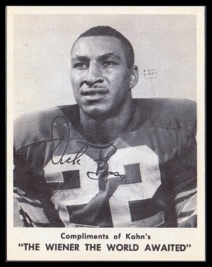 Dick Bass 1963 Kahns football card