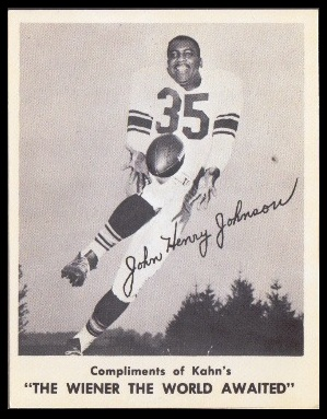 John Henry Johnson 1963 Kahns football card