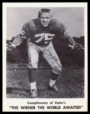 Jim Katcavage 1963 Kahns football card