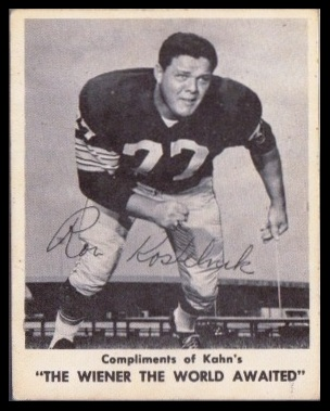 Ron Kostelnik 1963 Kahns football card