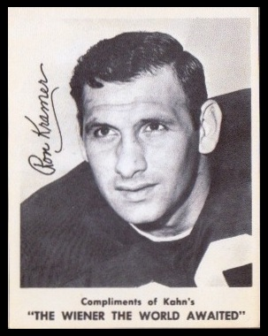 Ron Kramer 1963 Kahns football card