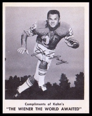 Yale Lary 1963 Kahns football card
