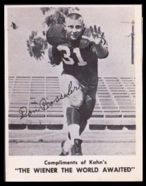 Don Bosseler 1963 Kahns football card