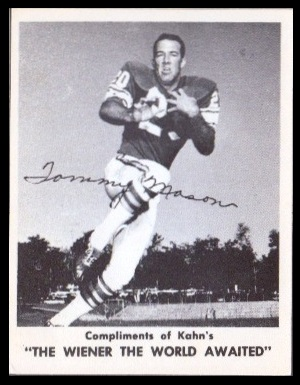 Tommy Mason 1963 Kahns football card