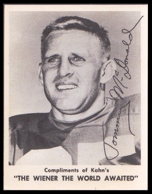 Tommy McDonald 1963 Kahns football card
