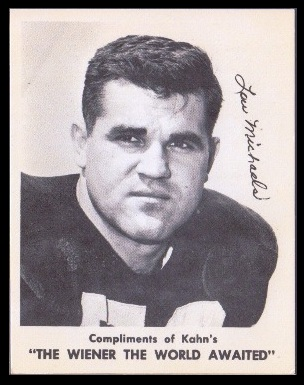 Lou Michaels 1963 Kahns football card