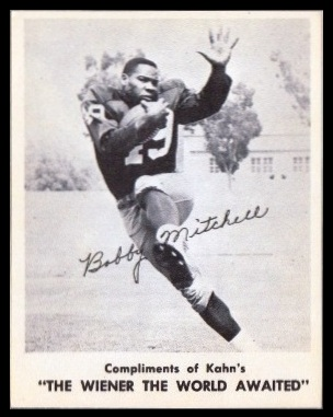 Bobby Mitchell 1963 Kahns football card