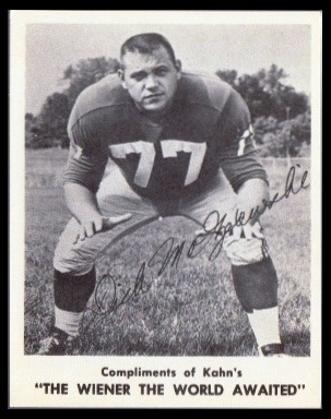 Dick Modzelewski 1963 Kahns football card