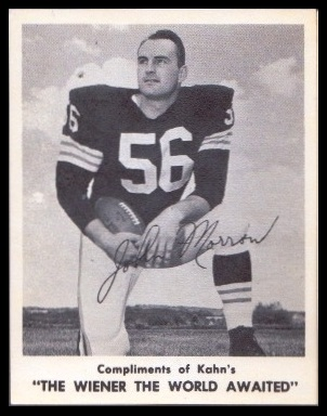 John Morrow 1963 Kahns football card