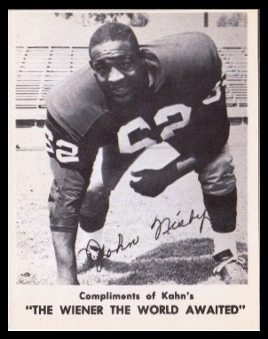 John Nisby 1963 Kahns football card