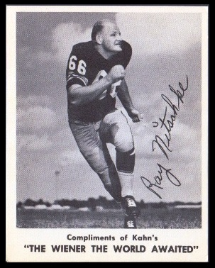 Ray Nitschke 1963 Kahns football card