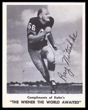 Ray Nitschke 1963 Kahns football card