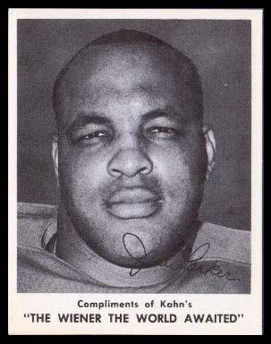 Jim Parker 1963 Kahns football card