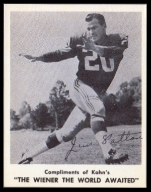 Jim Patton 1963 Kahns football card