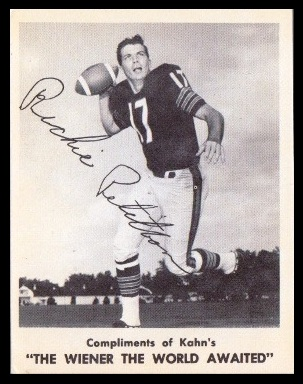 Richie Petitbon 1963 Kahns football card