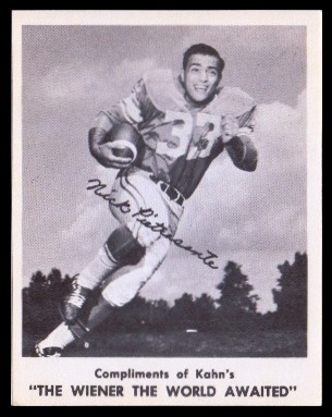 Nick Pietrosante 1963 Kahns football card