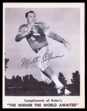 Milt Plum 1963 Kahns football card