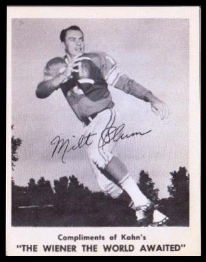 Milt Plum 1963 Kahns football card