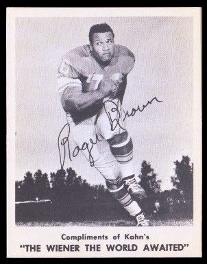 Roger Brown 1963 Kahns football card