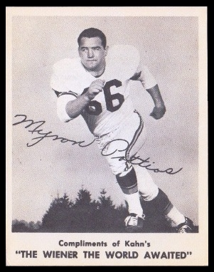 Myron Pottios 1963 Kahns football card
