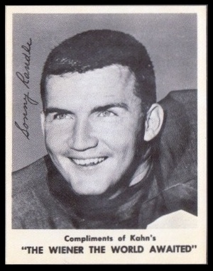 Sonny Randle 1963 Kahns football card