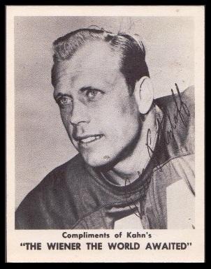 Pete Retzlaff 1963 Kahns football card