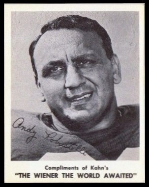 Andy Robustelli 1963 Kahns football card