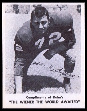 Joe Rutgens 1963 Kahns football card